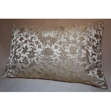 Fodera per Cuscino in Tessuto Jacquard di Seta Rubelli Les Indes Galantes Avorio e Oro