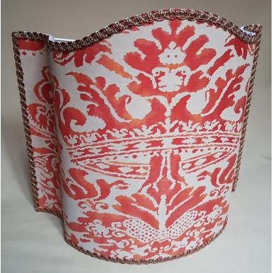 Paralume Tessuto Fortuny Corone Rosso e Beige