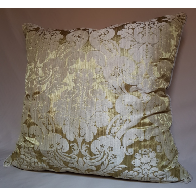 Throw Pillow Cushion Cover Olive Green Ruzante Silk Damask Rubelli Fabric