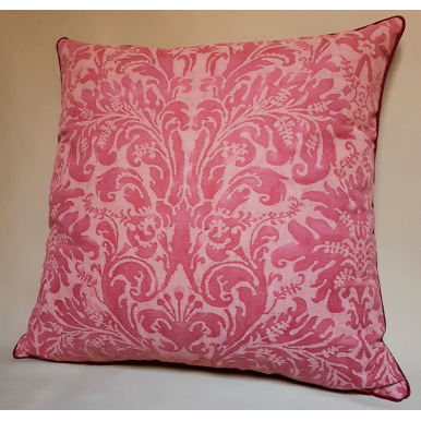 Throw Pillow Cushion Cover Fortuny Fabric Sevres Red Museum Texture