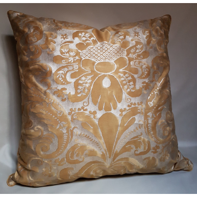 Fortuny Throw Pillow Cushion Cover Gold Museum Caravaggio Pattern