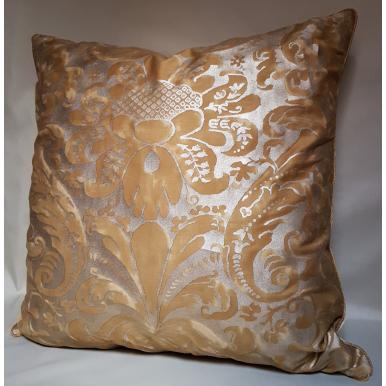 Fodera per Cuscino in Tessuto Fortuny Caravaggio Oro