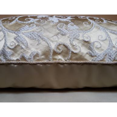 Throw Pillow Cushion Cover Silk Lampas Rubelli Fabric Honey Giambellino Pattern