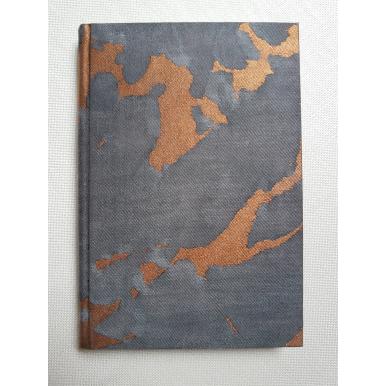 Quaderno con Copertina Rivestita in Tessuto Fortuny Marmo Nero, Grigio e Rame