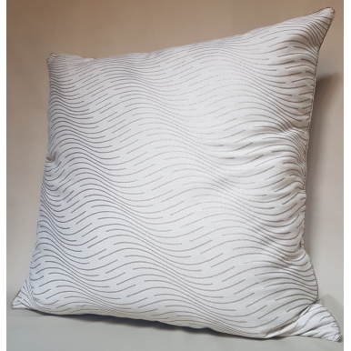 Throw Pillow Case Fortuny Fabric Ivory & Gold Onde Pattern