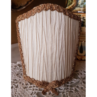 Wall Sconce Venetian Clip On Shield Shade Ivory Pleated Taffetas Rubelli Fabric