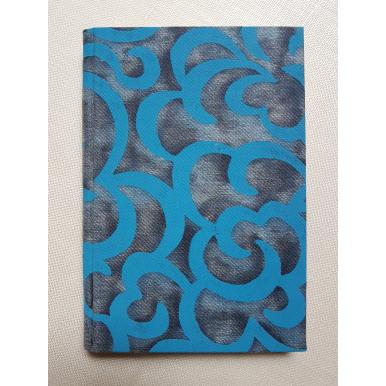 Carnet de Notes Couverture Tissu Fortuny Nuvole Bleu et Or
