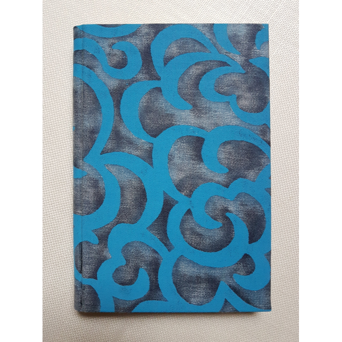 Fortuny Fabric Covered Journal Hardcover Notebook Turkish Blues Nuvole Pattern