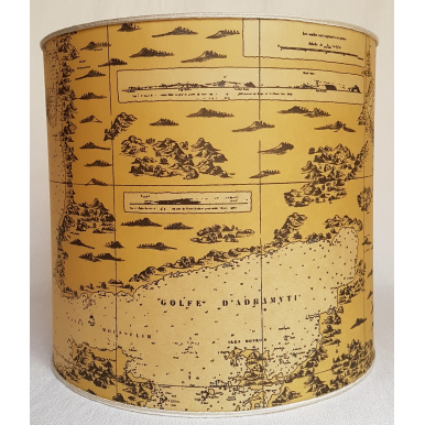 Drum Lampshade Old World Map Parchment
