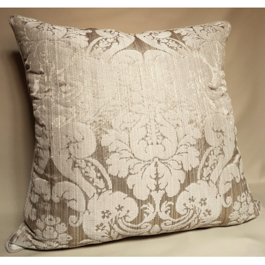 Throw Pillow Cushion Cover Rubelli Fabric Mother of Pearl Silk Damask Ruzante Pattern
