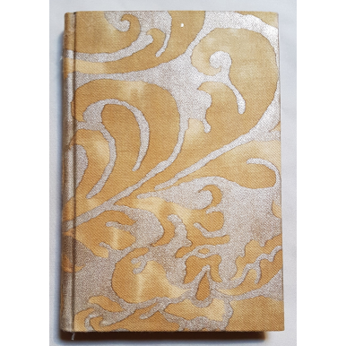 Fortuny Fabric Covered Journal Hardcover Notebook Gold Museum Caravaggio Pattern