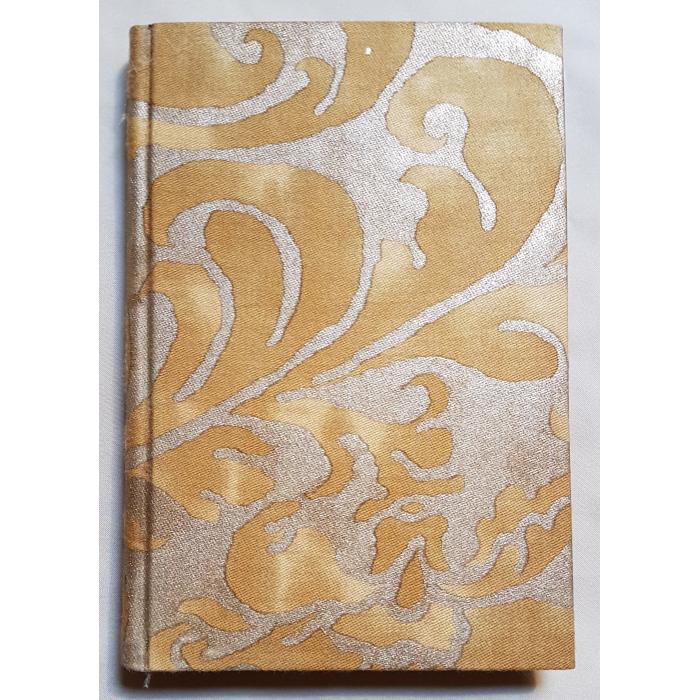 Quaderno con Copertina Rivestita in Tessuto Fortuny Caravaggio Oro