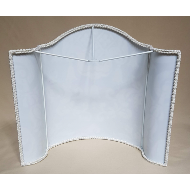 Abat Jour Tissu Fortuny Carnavalet Blanc et Or
