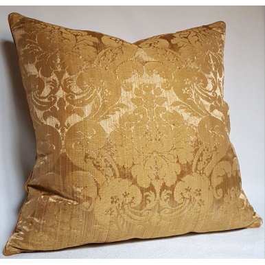 Throw Pillow Cushion Cover Rubelli Fabric Gold Silk Damask Ruzante Pattern
