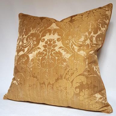 Fodera per Cuscino in Damasco di Seta Rubelli Ruzante Oro