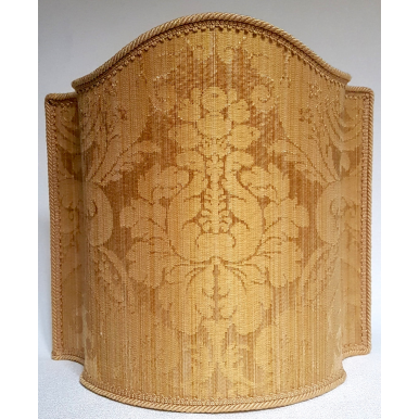 Venetian Lampshade in Rubelli Silk Damask Fabric Gold Ruzante Pattern Half Lamp Shade