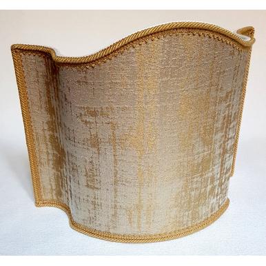 Rubelli Venier Jacquard Fabric Sand & Gold Lampshade