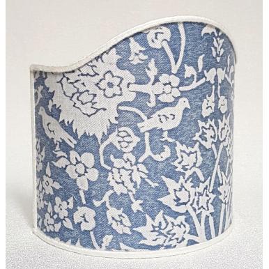Ventolina per Applique in Tessuto Fortuny Alberelli Blu e Bianco