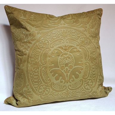 Fortuny Fabric Pillow Case Bayou Green Orsini Pattern