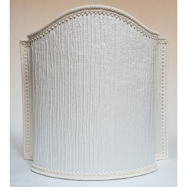 Venetian Lampshade Crinkled Satin Rubelli Fabric Ivory Canalgrande Pattern