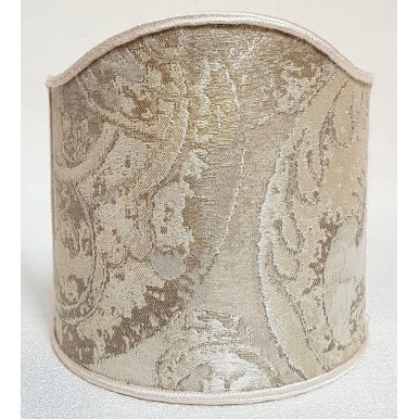 Wall Sconce Clip-On Shield Shade Opal White Jacquard Rubelli Fabric Gritti Pattern