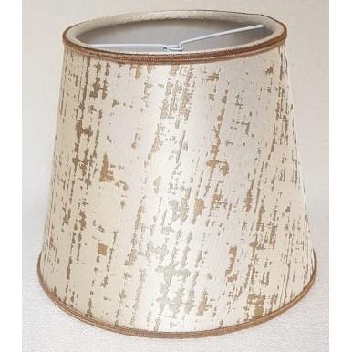 Clip On Lamp Shade in Off-White & Gold Silk Lampas Rubelli Fabric Zanni Pattern