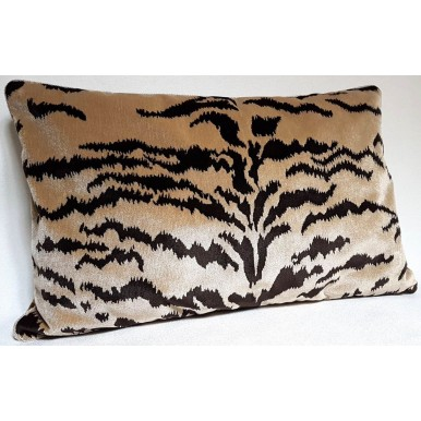 Decorative Pillow Case Luigi Bevilacqua Sand Velvet Tigre Pattern