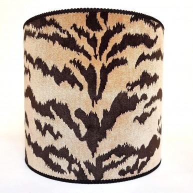 Drum Lamp Shade Luigi Bevilacqua Velvet Sand Tigre Pattern