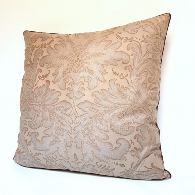 Throw Pillow Case Fortuny Fabric Driftwood Monotones Lucrezia Pattern