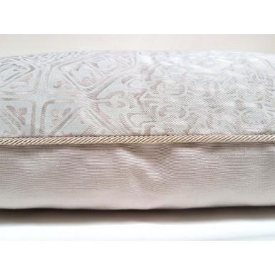 Throw Pillow Case Fortuny Fabric Platinum Monotones Moresco Pattern