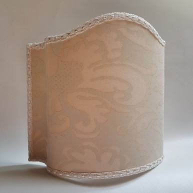 Venetian Lamp Shade Fortuny Fabric No Color Sevigne Pattern
