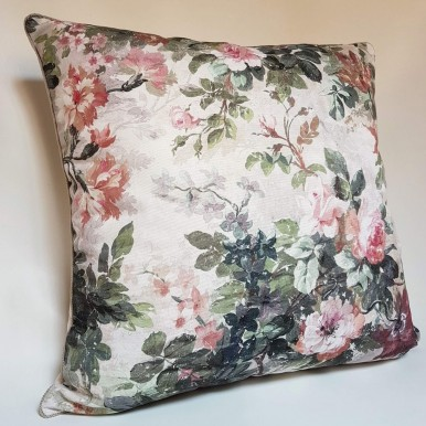 Floral Pillow Cover Rubelli Printed Fabric Autumn Violetta Spring