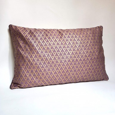 Throw Pillow Cushion Cover Fortuny Fabric Chinese Plum & Gold Murillo Pattern