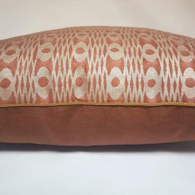 Housse de Coussin Fait Main en Tissu Fortuny Unita Spice Texture