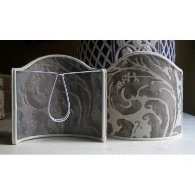 Ventolina per Applique in Tessuto Fortuny Lucrezia Grigio e Bianco