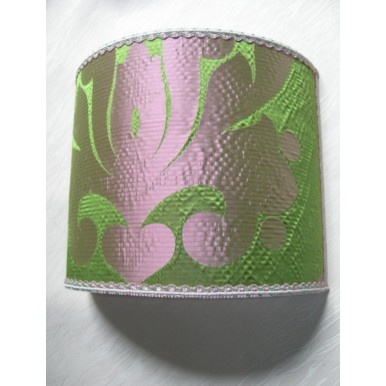 Wall Light Half Lampshade in Rubelli Silk Fabric Alberici Pattern Wall Lamp