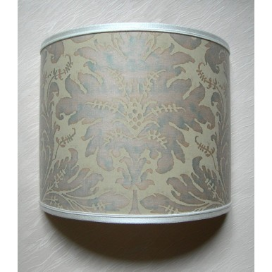 Wall Light Half Lampshade Fortuny Fabric Driftwood Lucrezia Pattern Wall Lamp