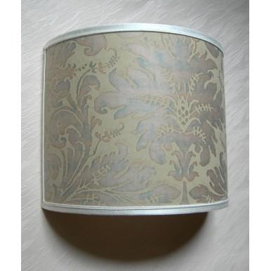 Wall Light Half Lampshade Fortuny Fabric Driftwood Lucrezia Pattern Wall Lamp