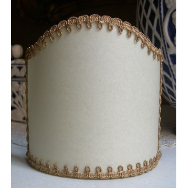 Wall Sconce Clip On Lamp Shade in Cream Parchment